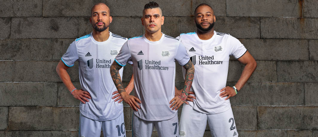 Camisas do New England Revolution 2021 Adidas MLS