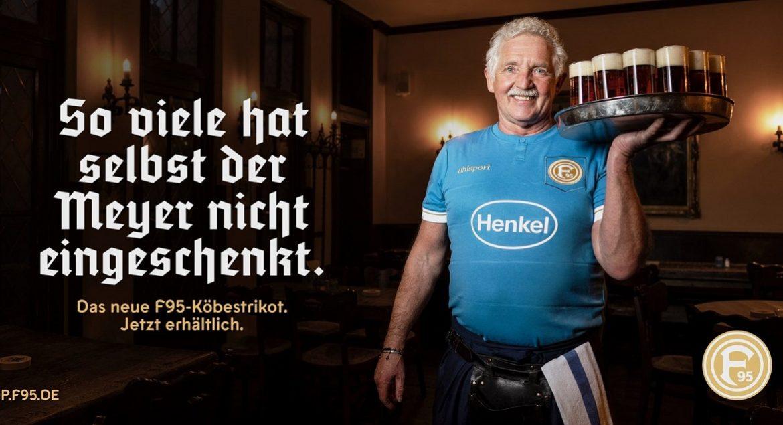 Fortuna Düsseldorf lança camisa em homenagem aos garçons