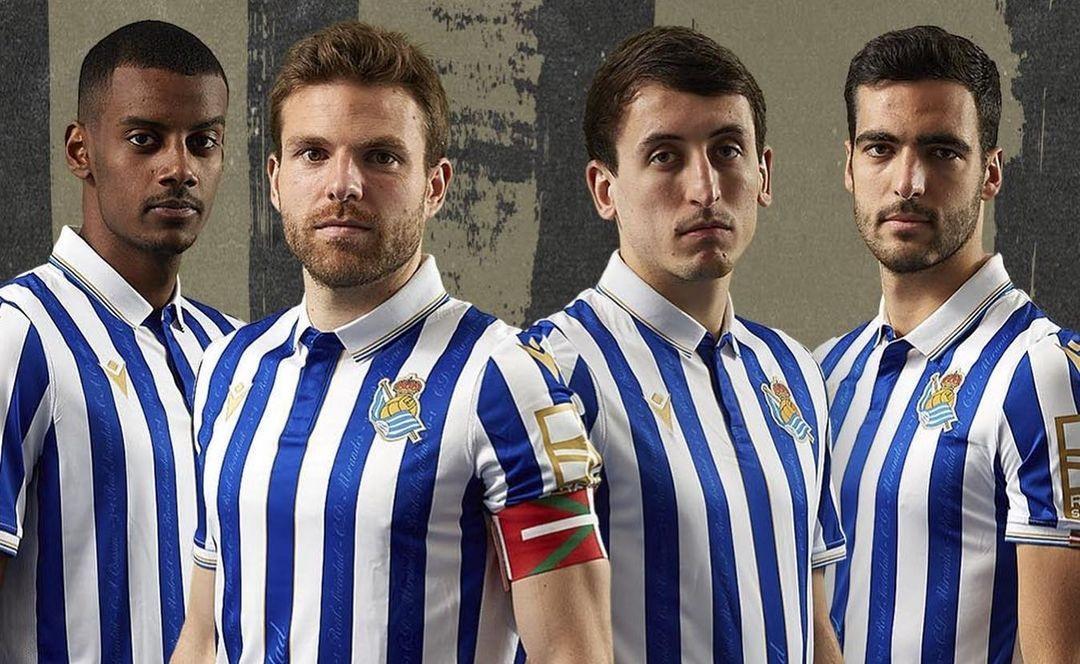 Real Sociedad lança camisa para a final da Copa do Rei