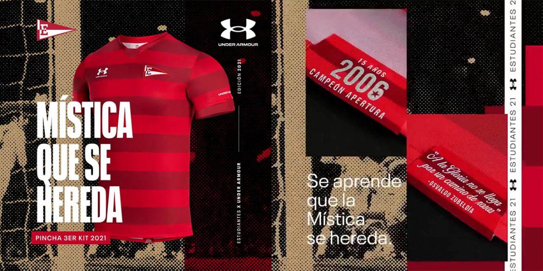 Terceira camisa do Estudiantes de La Plata 2021 Under Armour aa