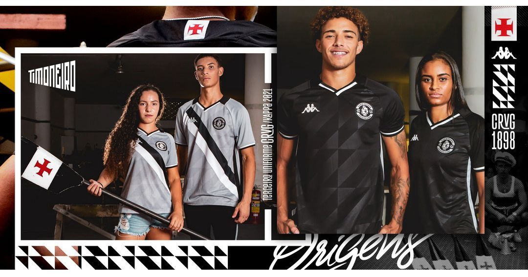 Terceira camisa do Vasco da Gama 2021 Kappa