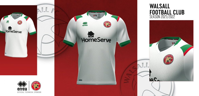Terceira camisa do Walsall FC 2021-2022 Erreà