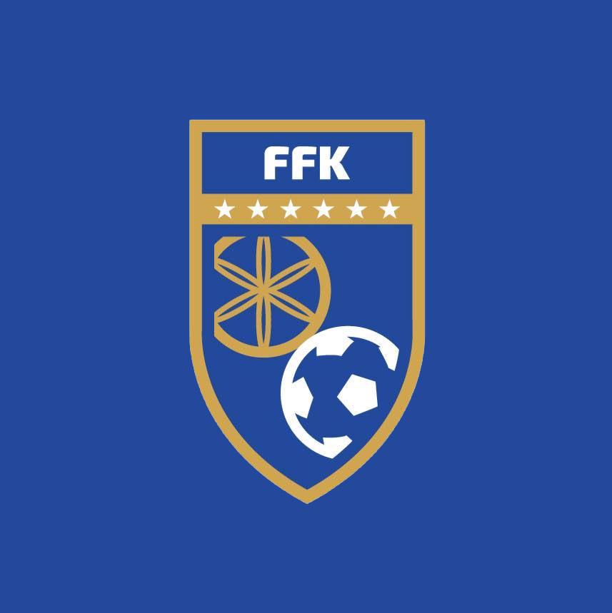 novo escudo FFK - Seleção de Kosovo