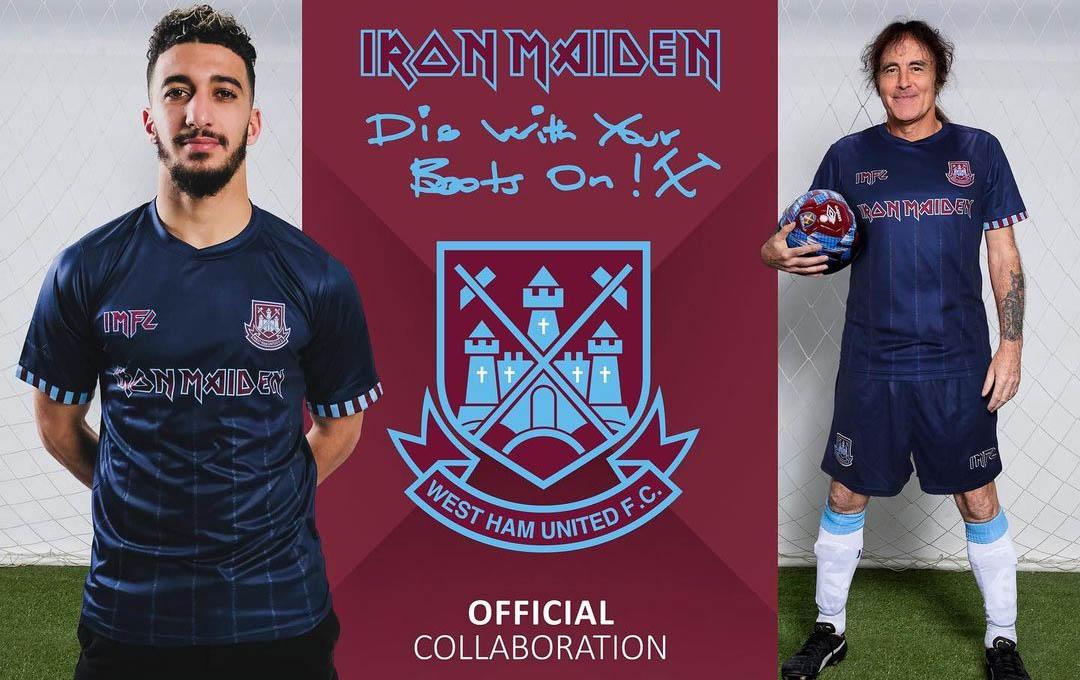 Camisa Iron Maiden x West Ham Away 2021-2022