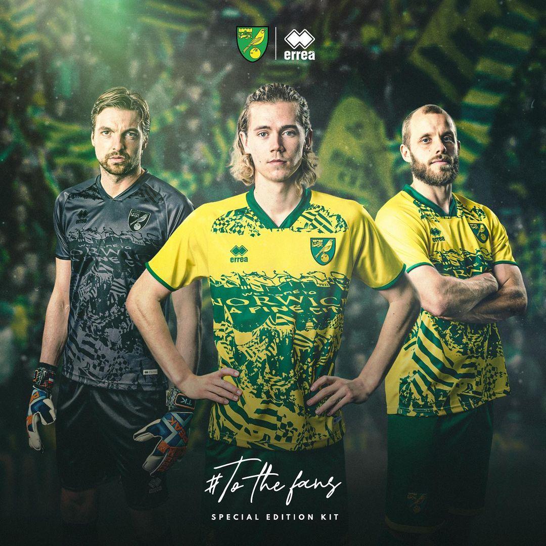 Camisa To The Fans Norwich 2021 Erreà kit