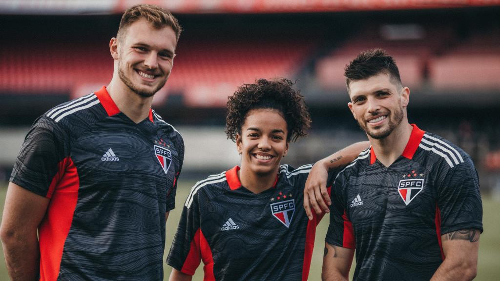 Camisas de goleiro do São Paulo FC 2021 Adidas