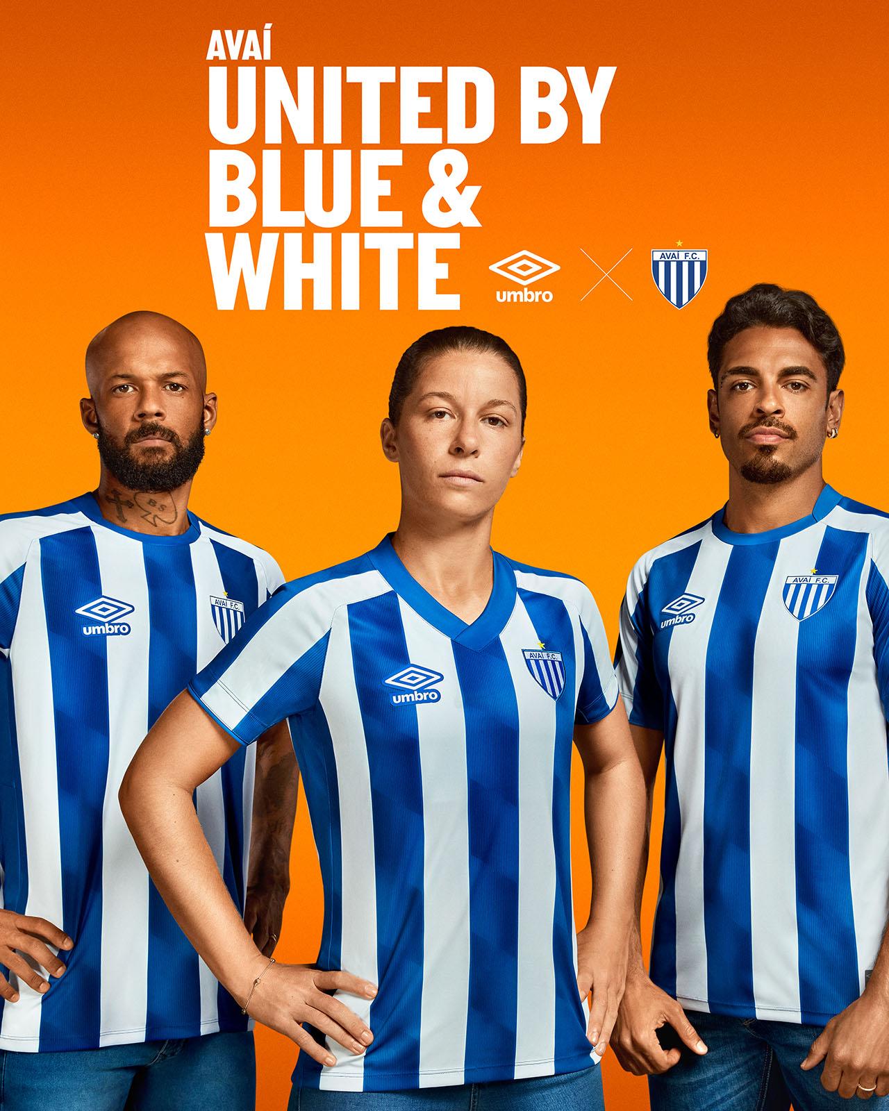 Camisas do Avaí FC 2021 Umbro Titular