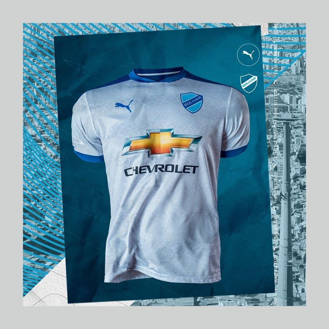 Camisas do Club Bolivar 2021 PUMA Away