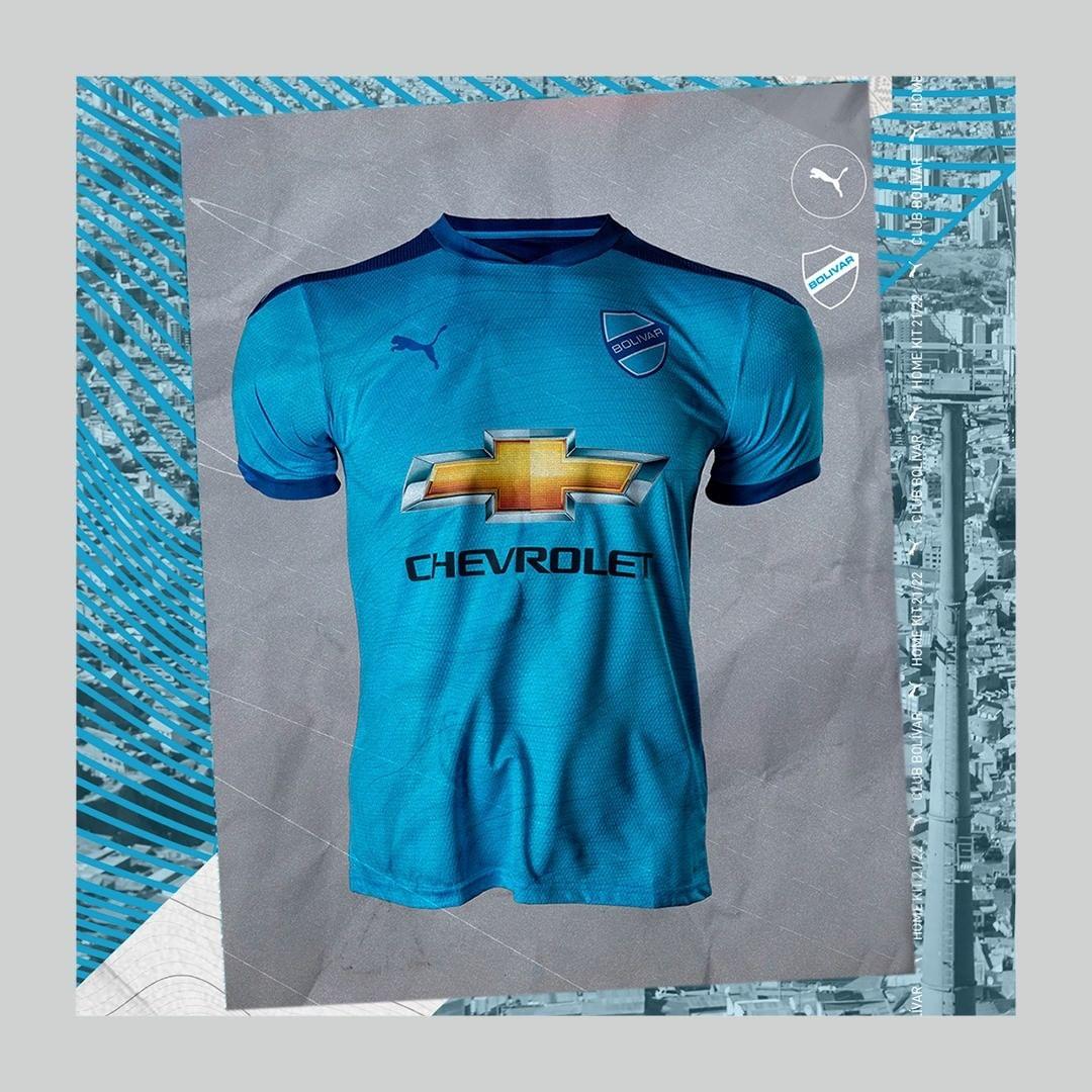 Camisas do Club Bolivar 2021 PUMA Home