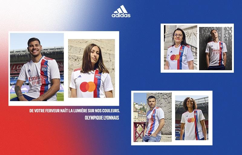 Camisas do Olympique Lyon 2021-2022 Adidas