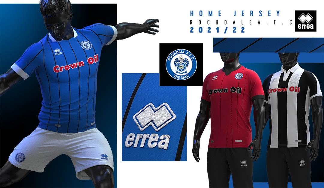 Camisas do Rochdale AFC 2021-2022 Errea