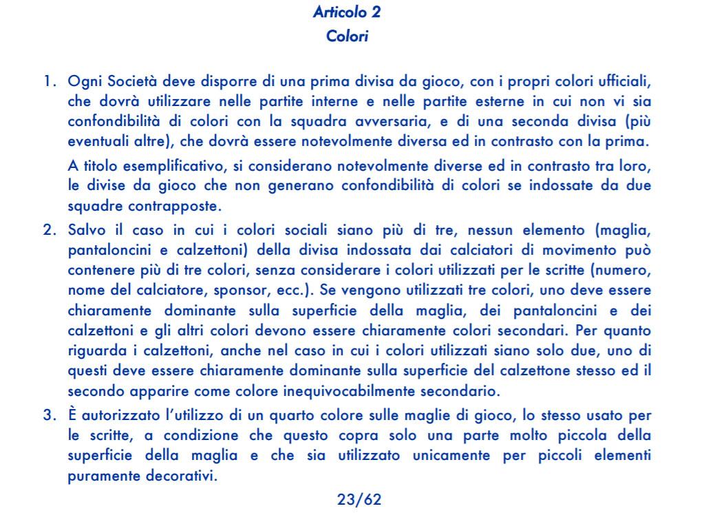 Regulamento Uniformes Serie A