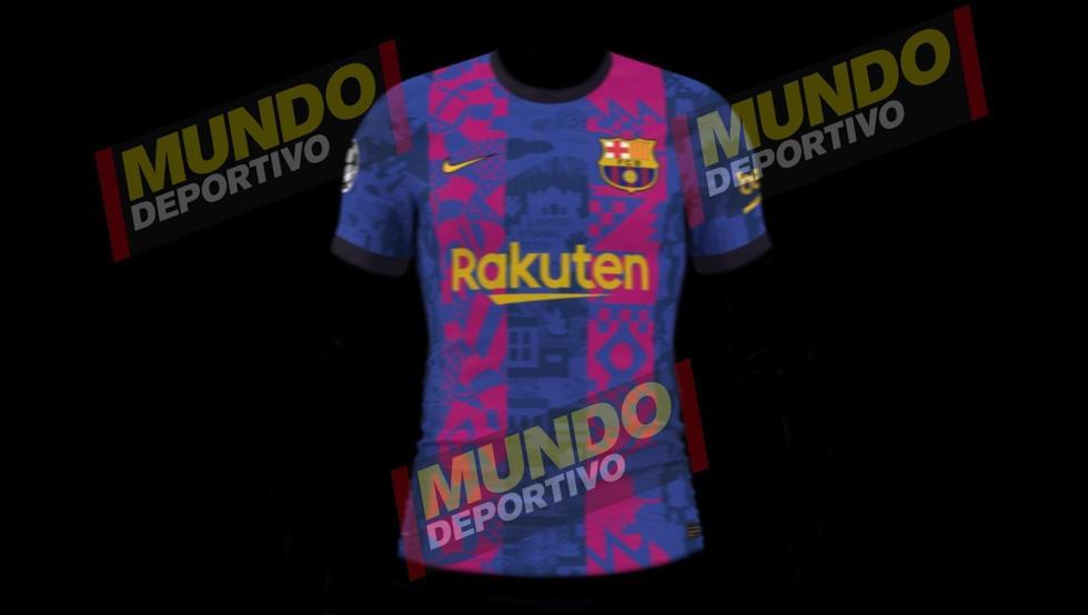 Camisa Champions League do Barcelona 2021-2022 Nike