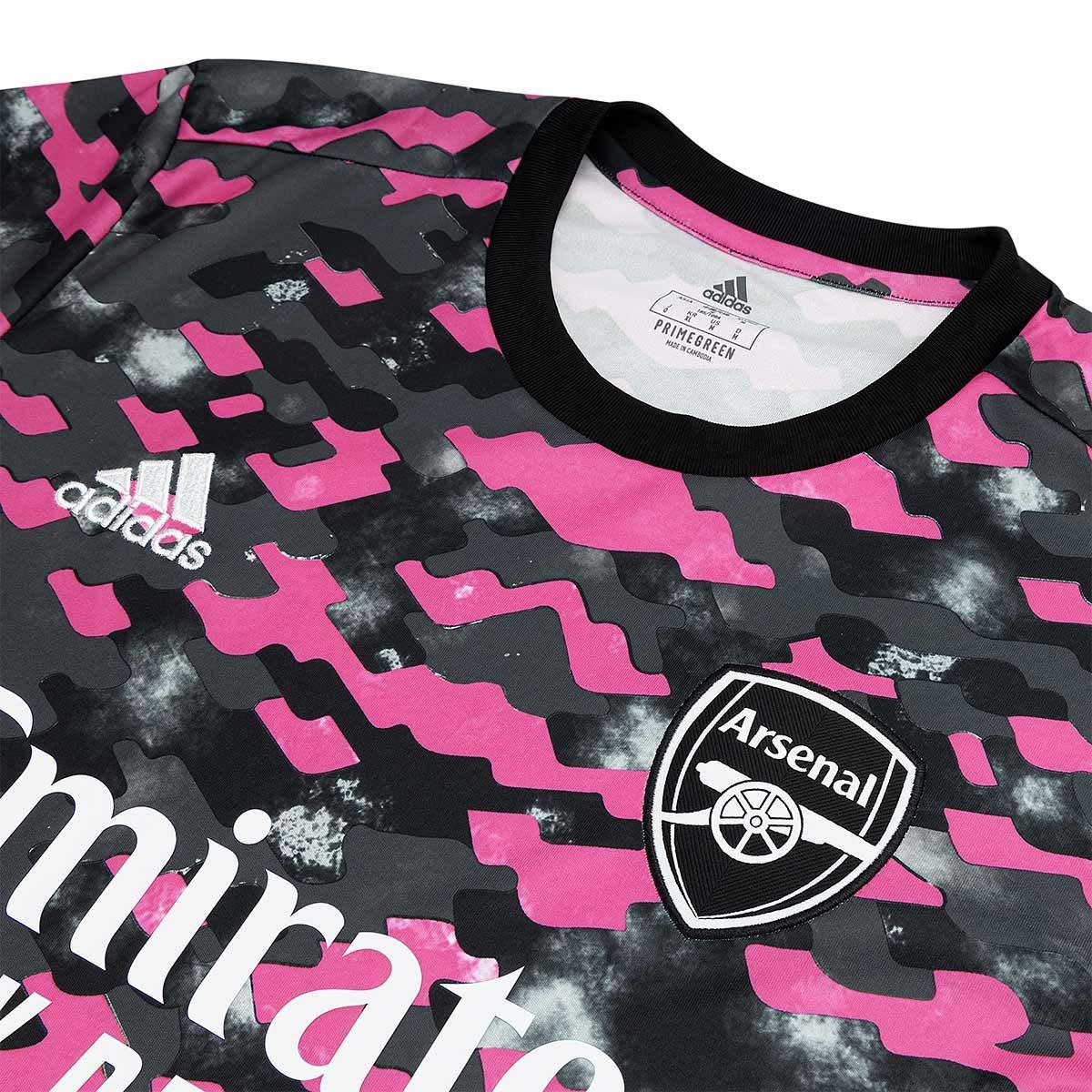 Camisa pré-jogo do Arsenal 2021-2022 Adidas