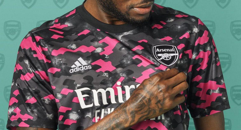 Camisa pré-jogo do Arsenal 2021-2022 Adidas a