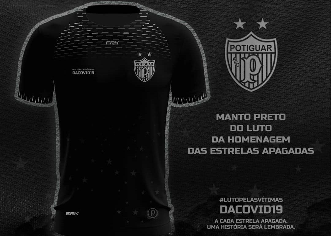 Camisa preta do Potiguar de Mossoró 2021 ERK
