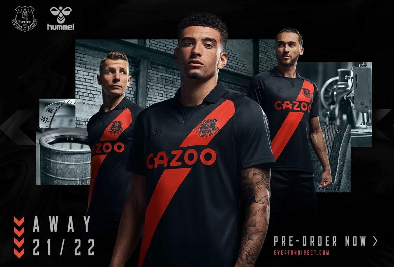 Camisa reserva do Everton FC 2021-2022 Hummel