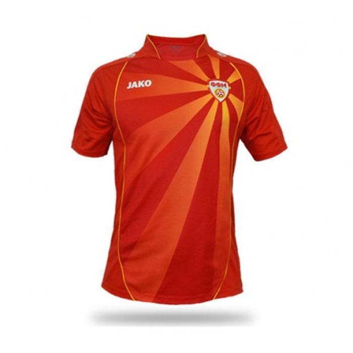 Camisas da Macedônia do Norte 2016-2021 Jako