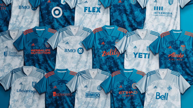 Coleção Adidas Parley 2021 dos times da MLS