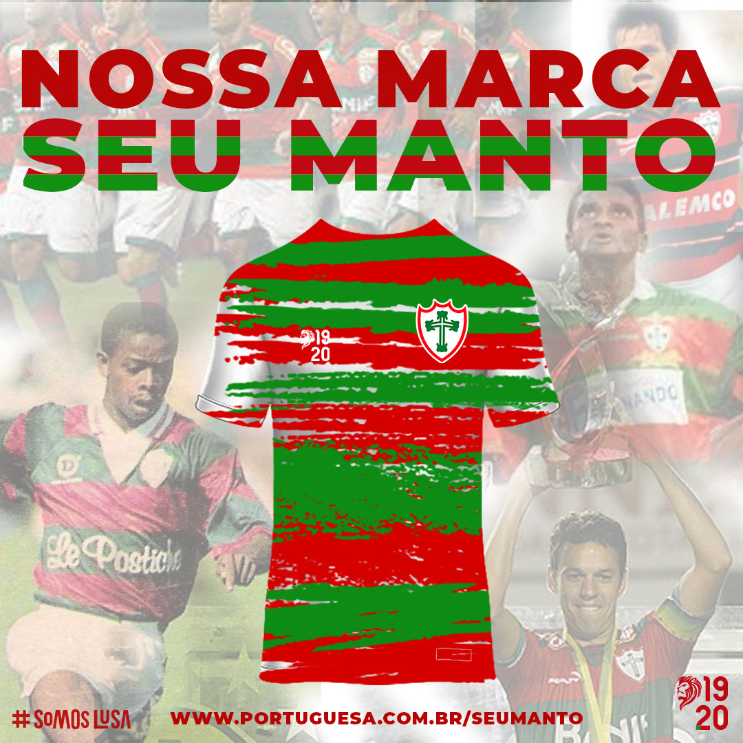 Portuguesa pede para sócios-torcedores criarem nova camisa listrada 2021 a