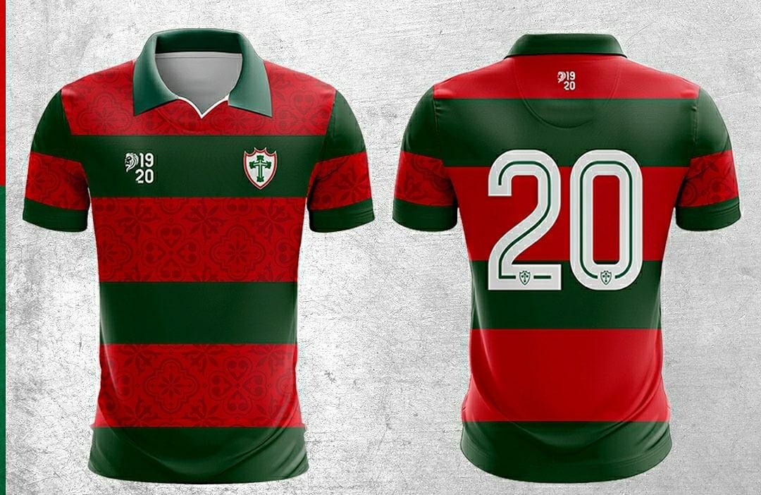 Terceira camisa da Portuguesa 2021 1920 a