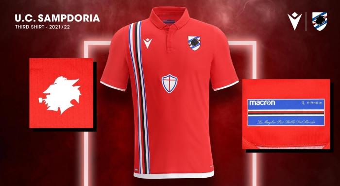Terceira camisa da Sampdoria 2021-2022 Macron