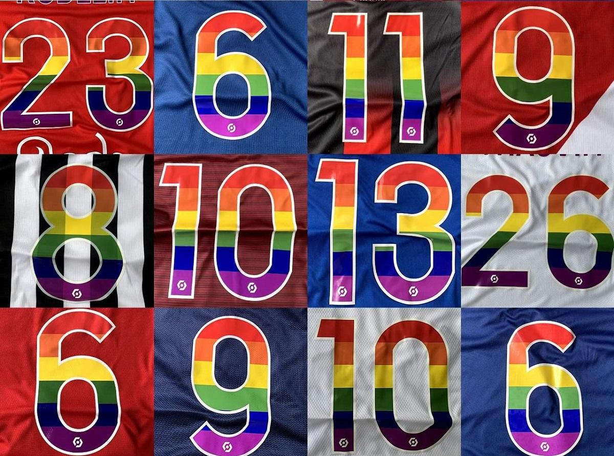 Times da Ligue 1 e 2 usarão fontes arco-íris
