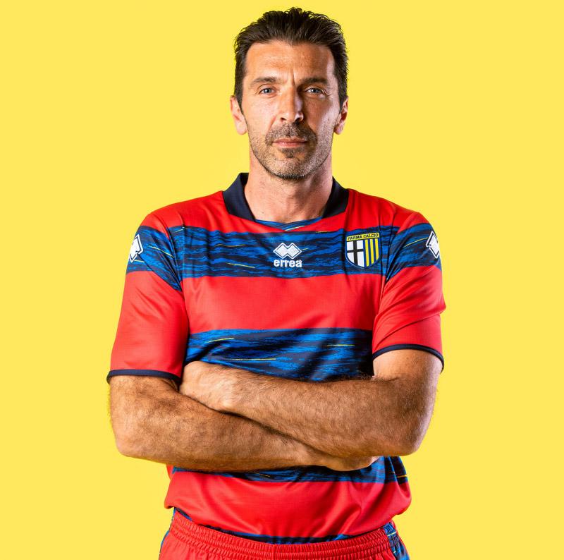Buffon Camisa de goleiro da Parma 2021-2022 Erreà
