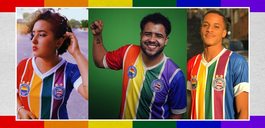 Camisa LGBTricolor do EC Bahia 2021