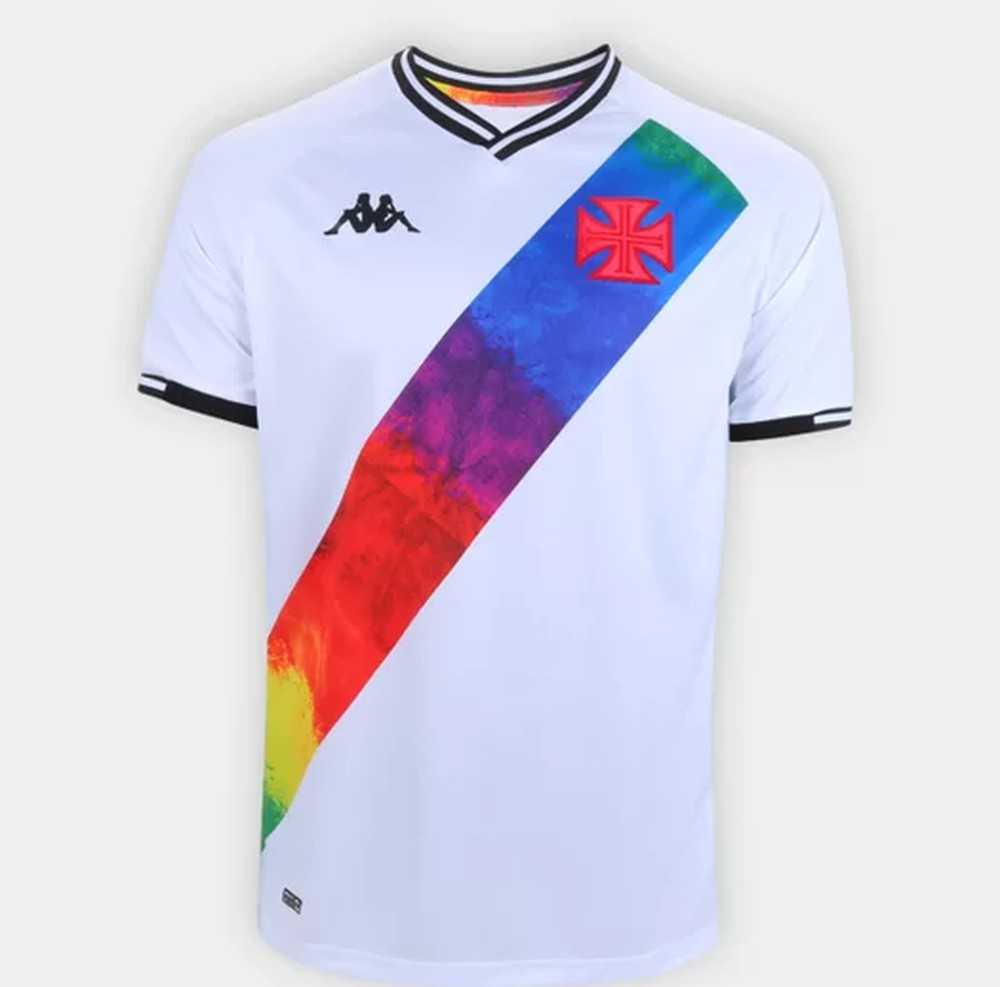 Camisa Orgulho LGBTQIA Vasco da Gama 2021 Kappa