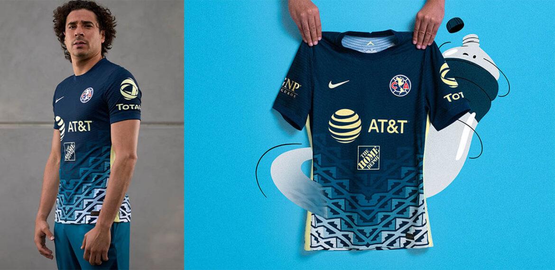 Camisa reserva do Club América 2021-2022 Nike a