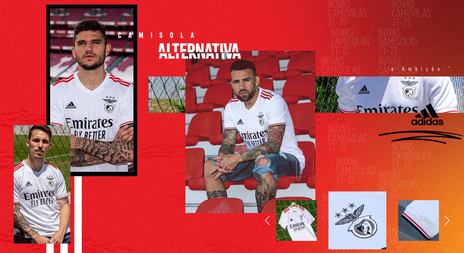 Camisas do Benfica 2021-2022 Adidas