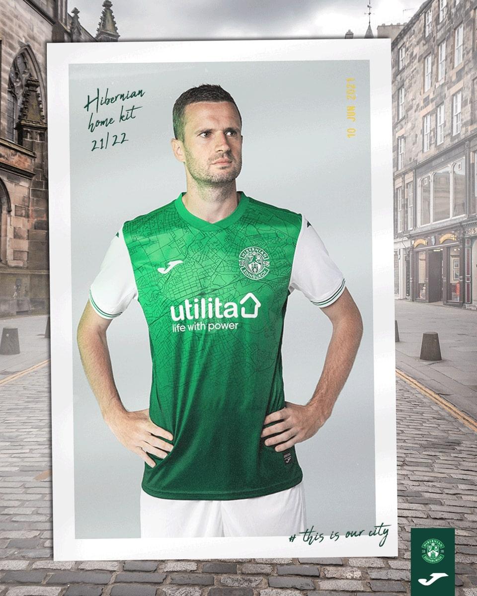 Camisas do Hibernian FC 2021-2022 JOMA