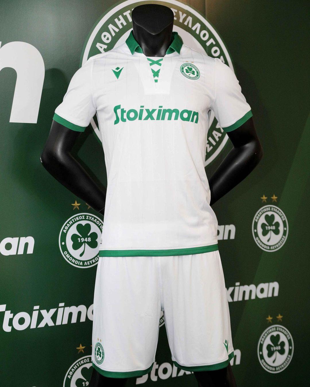 Camisas do Omonia Nicosia 2021-2022 Macron Reserva