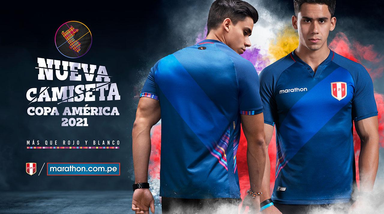 Camisas do Peru 2021-2022 Marathon kit away