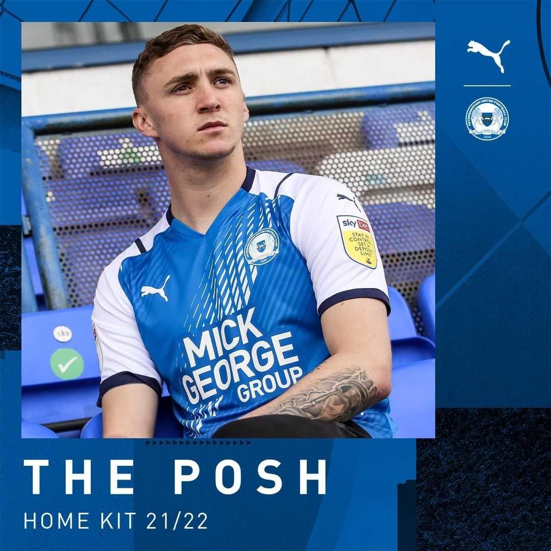 Camisas do Peterborough United 2021-2022 PUMA