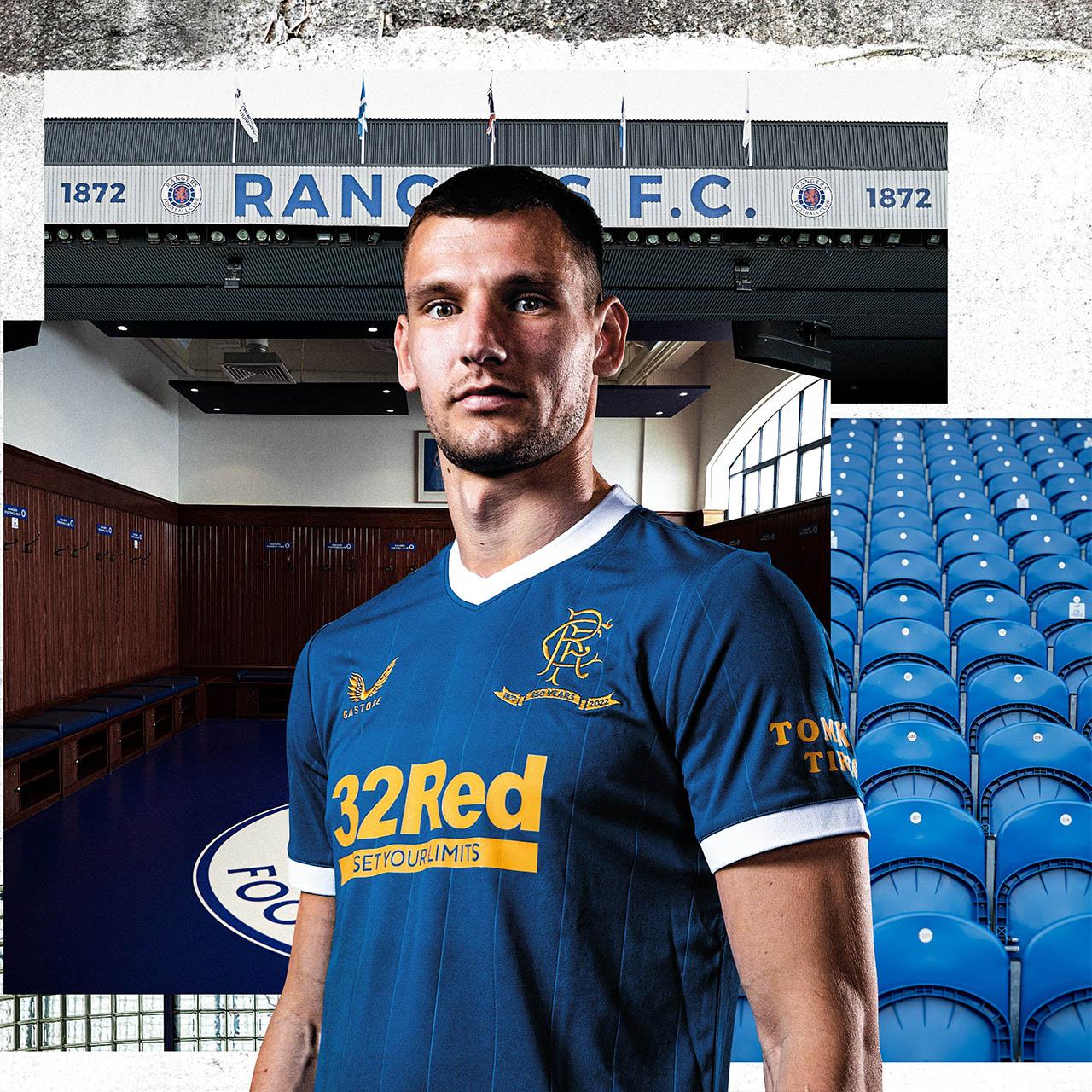 Camisas do Rangers FC 2021-2022 Castore