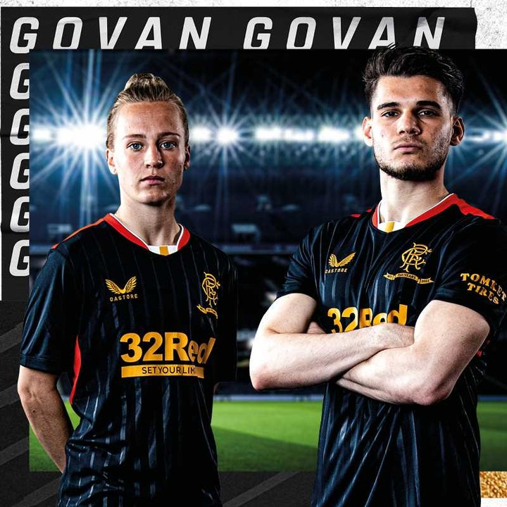 Camisas do Rangers FC 2021-2022 Castore 150 anos