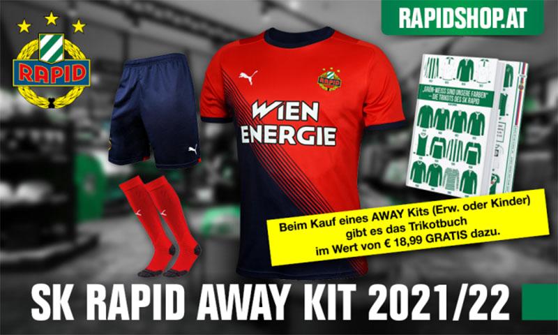 Camisas do Rapid Viena 2021-2022 PUMA Reserva a