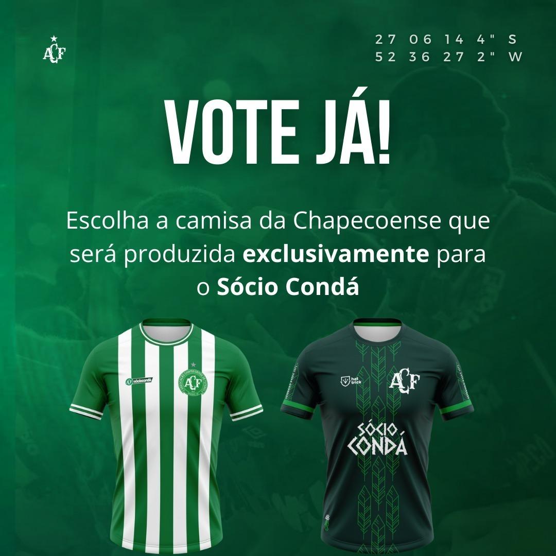 Chapecoense abre votação para escolher camisa dos sócios