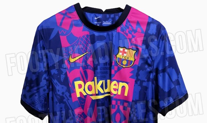 Terceira camisa do Barcelona UCL 2021-2022 Nike a