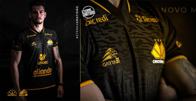 Terceira camisa do Criciúma 2021-2022 Garra91