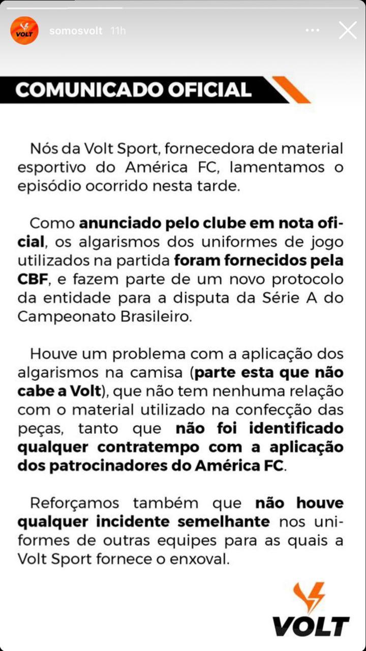 América-MG Numeração