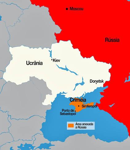 mapa criméia ucrania russia