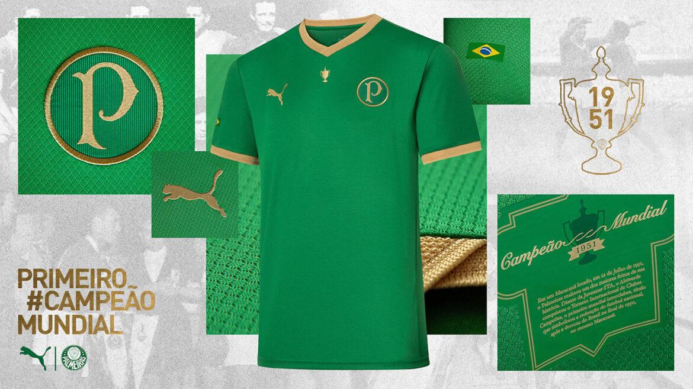 Camisa 70 anos Copa Rio 1951 do Palmeiras 2021 PUMA a