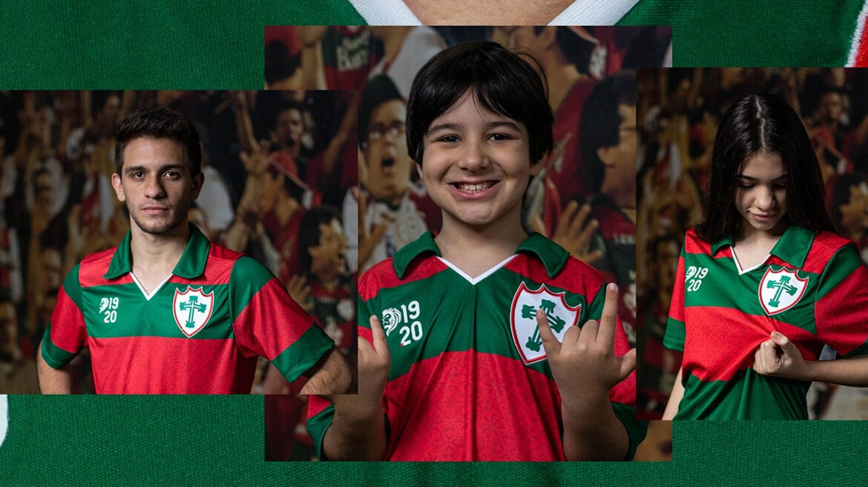 Camisa listrada da Portuguesa 2021-2022 1920