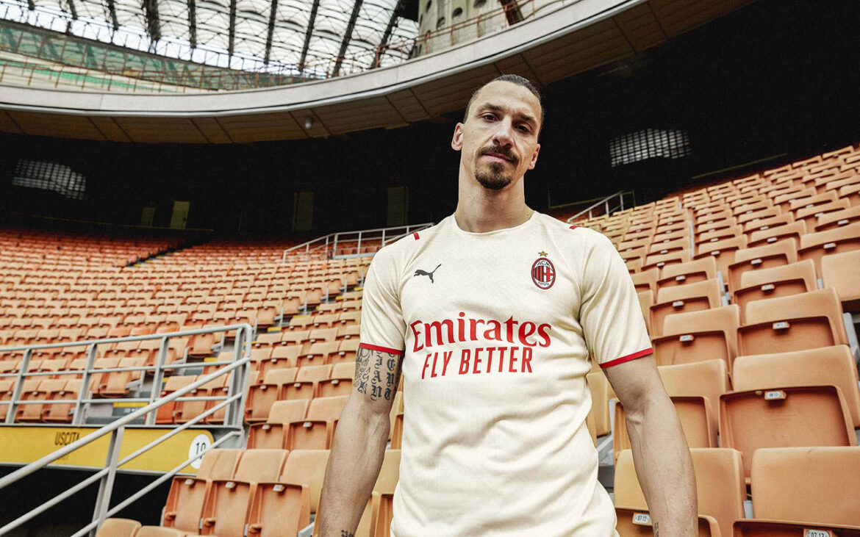 Camisa reserva do AC Milan 2021-2022 PUMA a