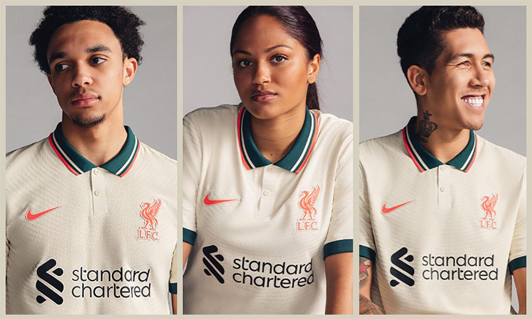 Camisa reserva do Liverpool FC 2021-2022 Nike a