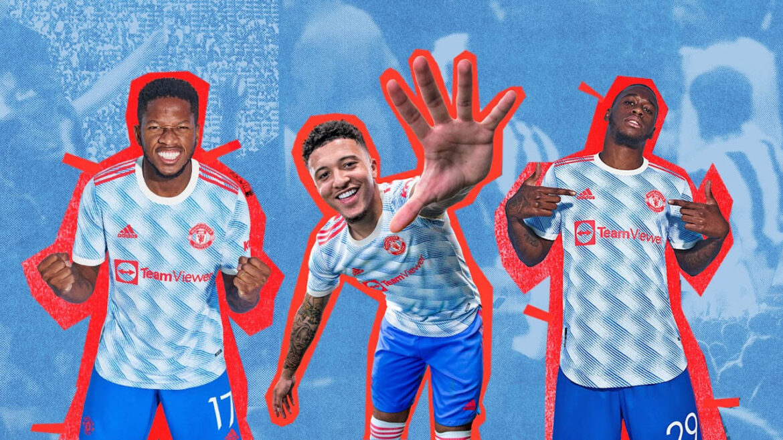 Camisa reserva do Manchester United 2021-2022 Adidas kit