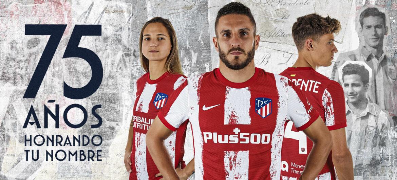 Camisas do Atlético de Madrid 2021-2022 Nike a